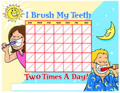 Color Brushing Chart - Pediatric Dentist in Norwich, VT and Lebanon, NH