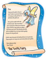 Tooth Fairy Letter - Pediatric Dentist in Norwich, VT and Lebanon, NH